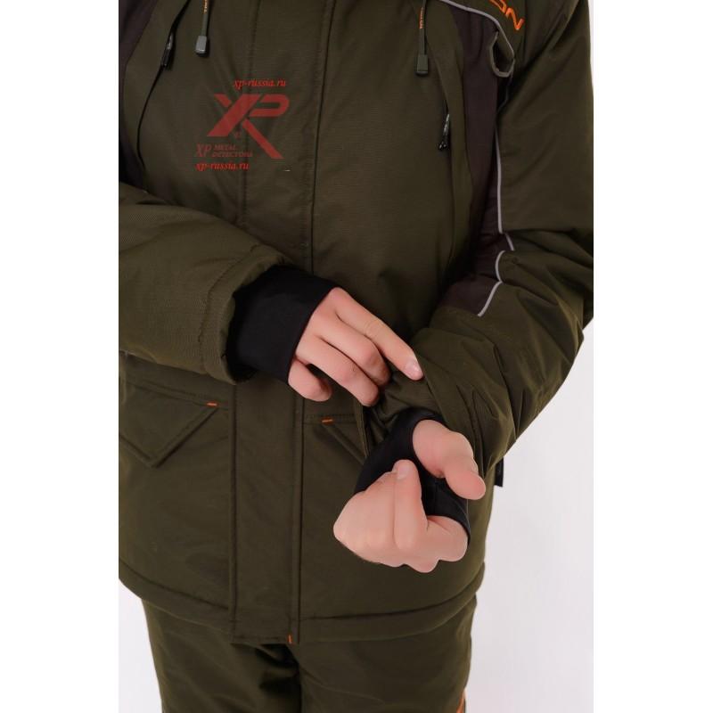 Костюм с полукомбинезоном Стрим -40, Таслан, зеленый