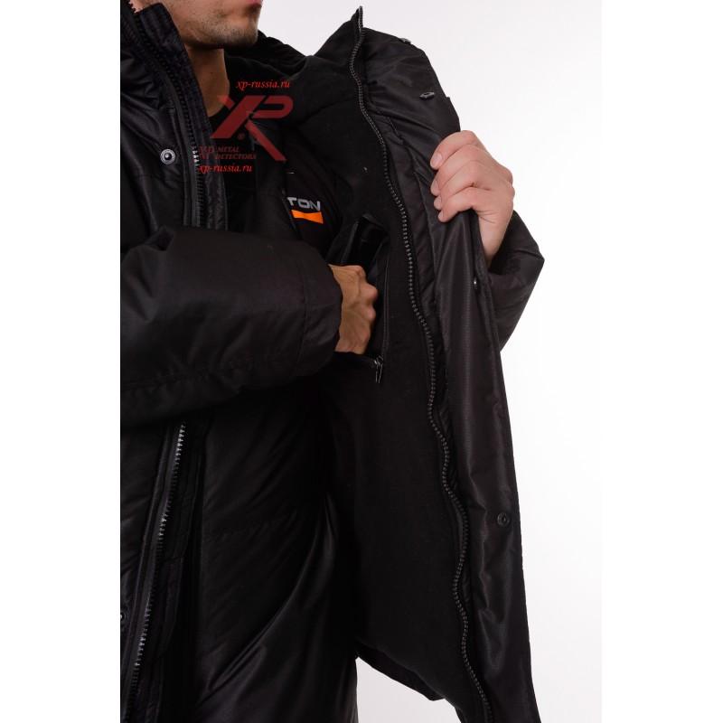 Костюм с полукомбинезоном Горный -45, Таслан, черный